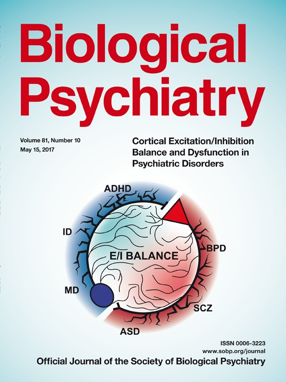 [2017.05.14] IBS Center for Synaptic Brain Dysfunctions Phd Course Haram Park - Cover of Biological Psychiatry 2017.05 Vol. 81, Number 10 사진